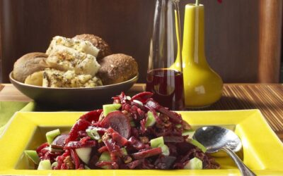 Autumn Beet and Red Cabbage Salad