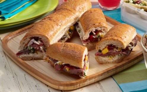 Picnic Sandwiches with Beet-Mango Slaw