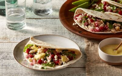 Chicken Soft Tacos with Pickled Beet Salsa
