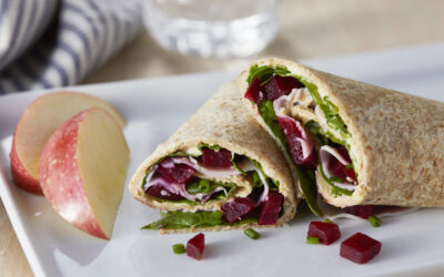 Beet & Spinach Wrap