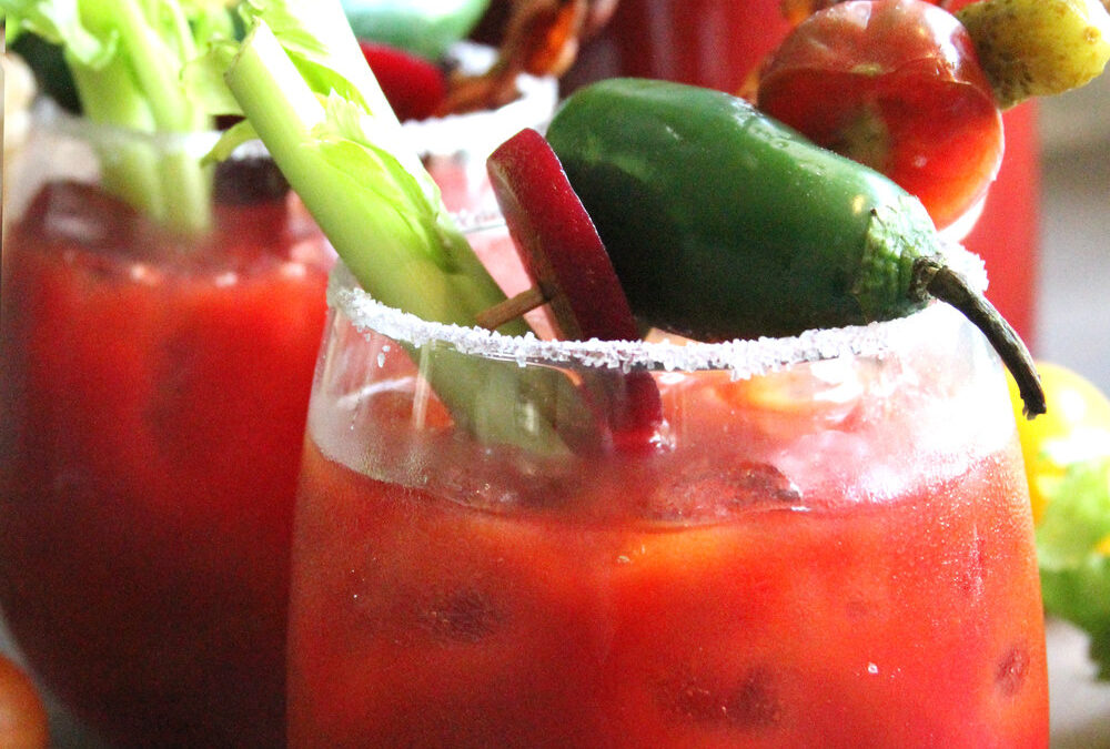 Spicy Beet Bloody Marys