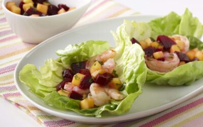 Asian Shrimp & Beets Wrap