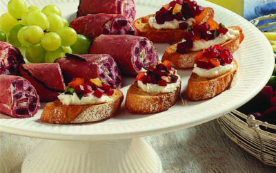 Beef & Beet Canapes
