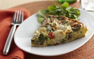 Onion, Spinach & Mushroom Frittata