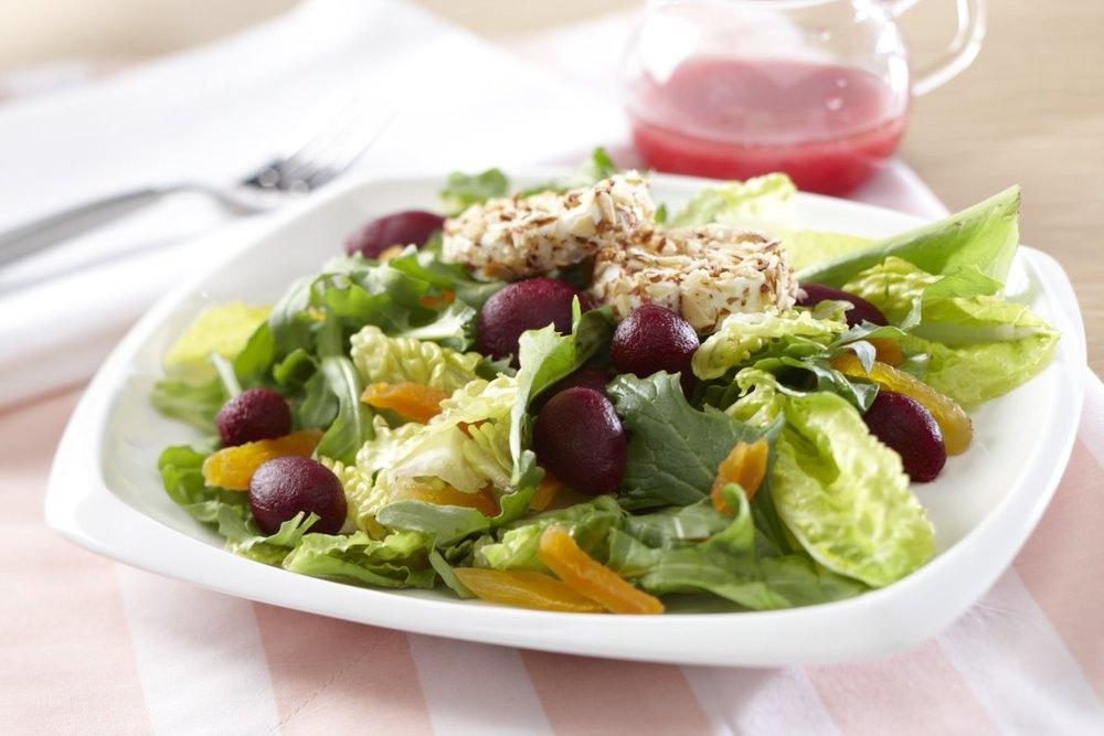 Baby Beets & Greens Salad