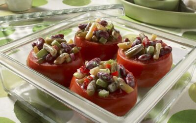 Bean Salad Stuffed Tomatoes