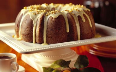 Holiday Cranberry-Beet Bundt Cake with Orange-Walnut Glaze