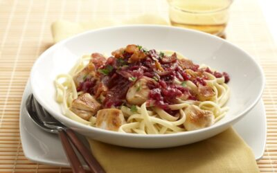 Red Cabbage & Bacon Pasta