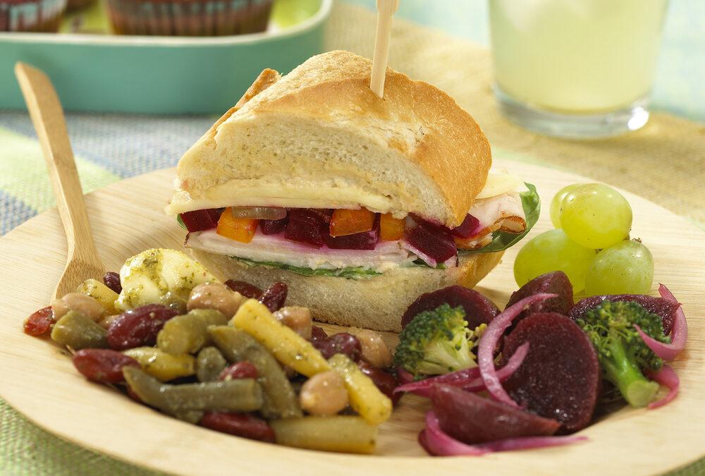 Turkey, Beet Relish & Hummus Sandwich