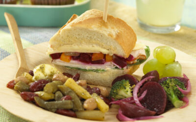 Turkey, Beet Relish & Hummus Sandwich