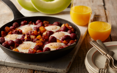 Baby Beet & Potato Hash With Chorizo