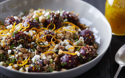 Pickled Beet & Red Quinoa Salad with Orange Vinaigrette