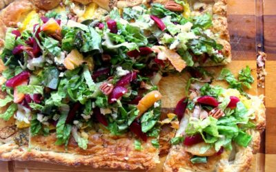 Orange Galette with Beet Gorgonzola Salad