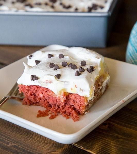 Red Velvet Beet Poke Cake