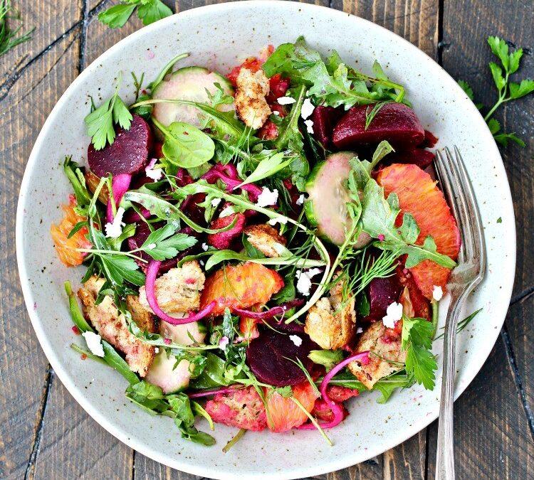 Beet Panzanella Salad