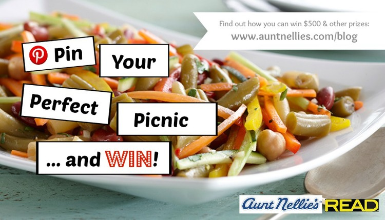 "[ENDED] ENTER THE 2015 AUNT NELLIE'S AND READ SALADS ""PIN YOUR PERFECT PICNIC"" CONTEST"