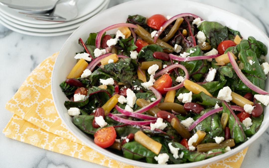 Warm Bean & Swiss Chard Salad
