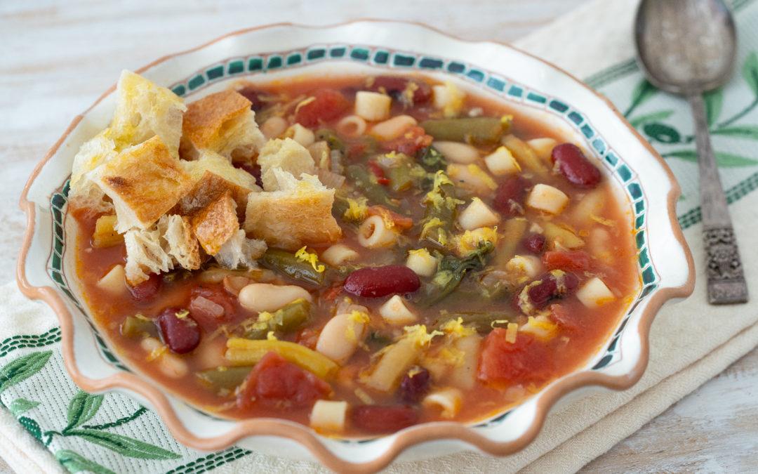 Tuscan 3-Bean Peasant Soup