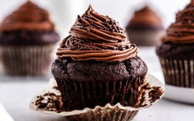 Dark Chocolate Beet Cupcakes with Mocha Buttercream Frosting