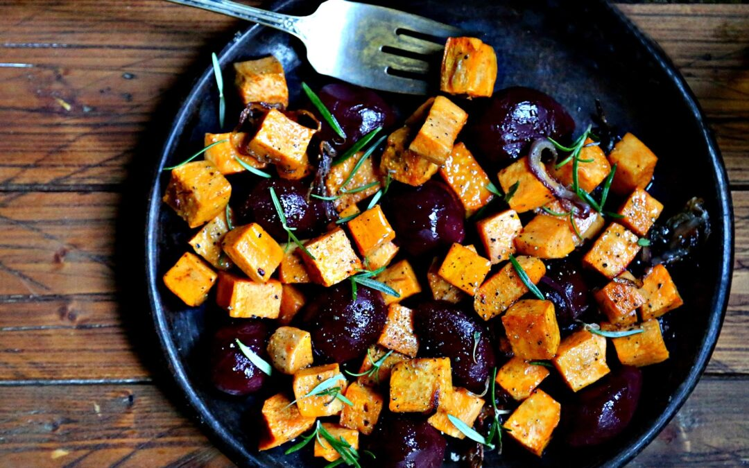 Oven Roasted Sweet Potatoes and Beets