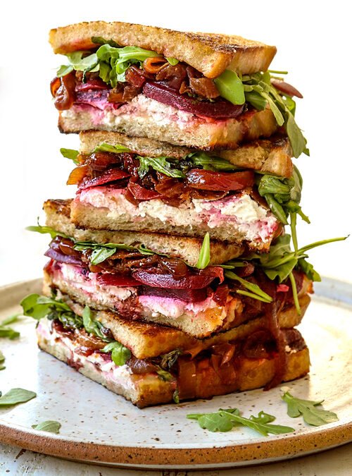 Gourmet Grilled Cheese with Pickled Beets